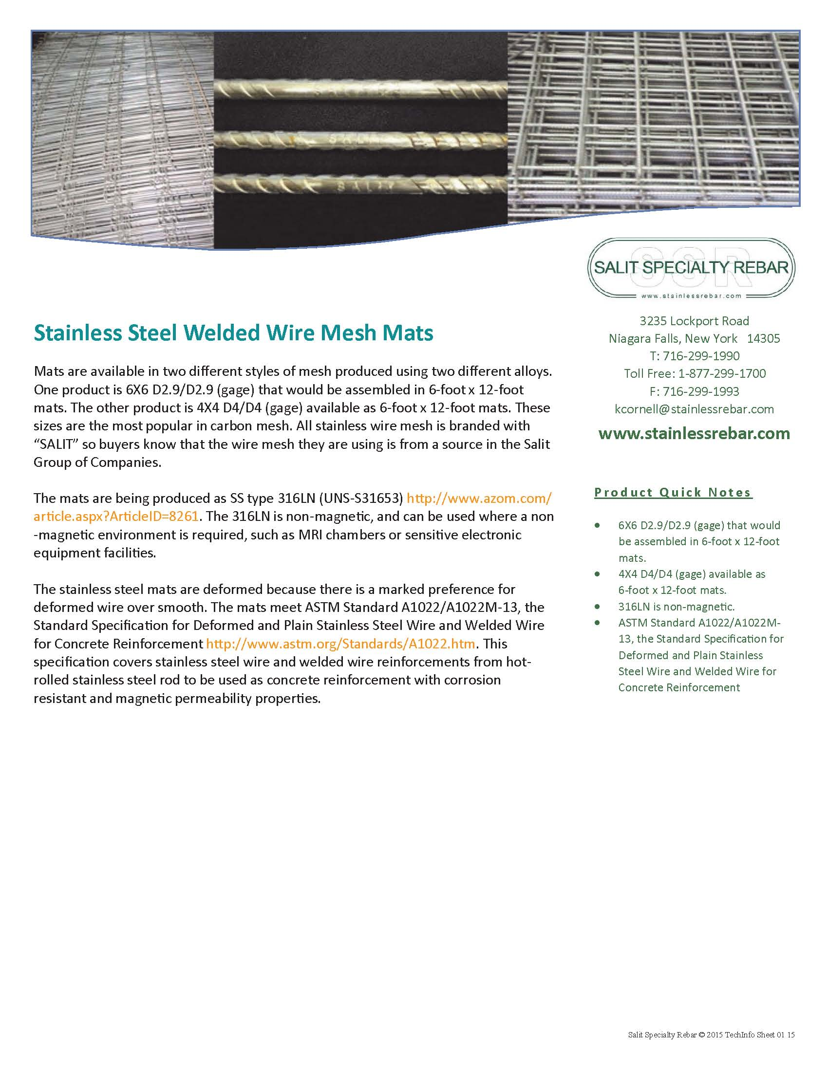 Stelcrete industries limited salit speciaty rebar stainless steel welded wire mats greentooth Images